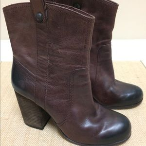 Vince Camuto western ankle boots